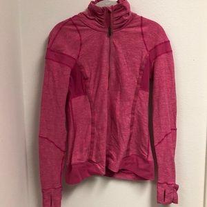 lululemon half zip pink pullover